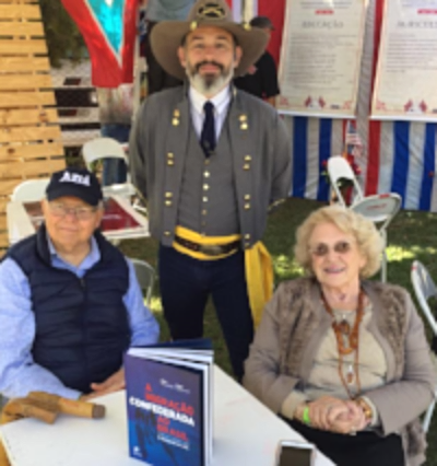 Gary and Rose Neeleman with their book on Brazilian Confederates